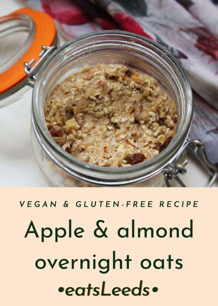 Apple and almond vegan overnight oats