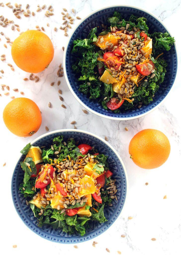 Orange, Tomato & Sunflower Seed Salad