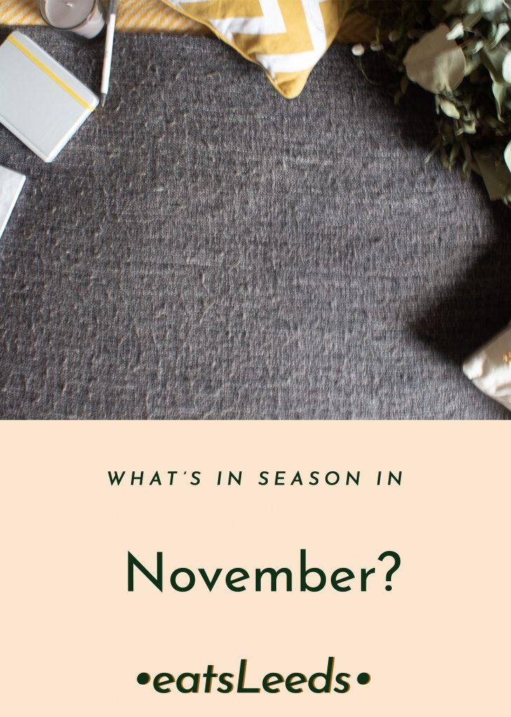 What's in season in the UK in November?