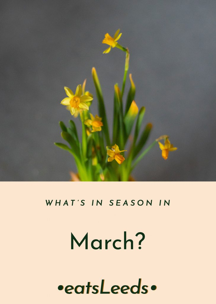 What's in season in the UK in March?